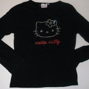 Hello Kitty Black Cat Shirt Fits Girl Large